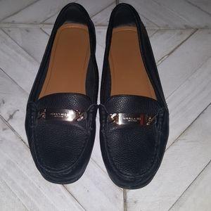 Coach Size 8  Black Leather Flats